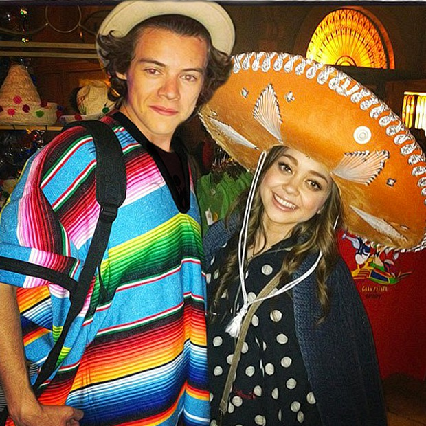 Harry Styles and Sarah Hyland