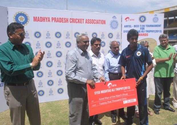 Bumrah Received Man of the Match For His Performance in Syed Musthaq Ali Trophy Final