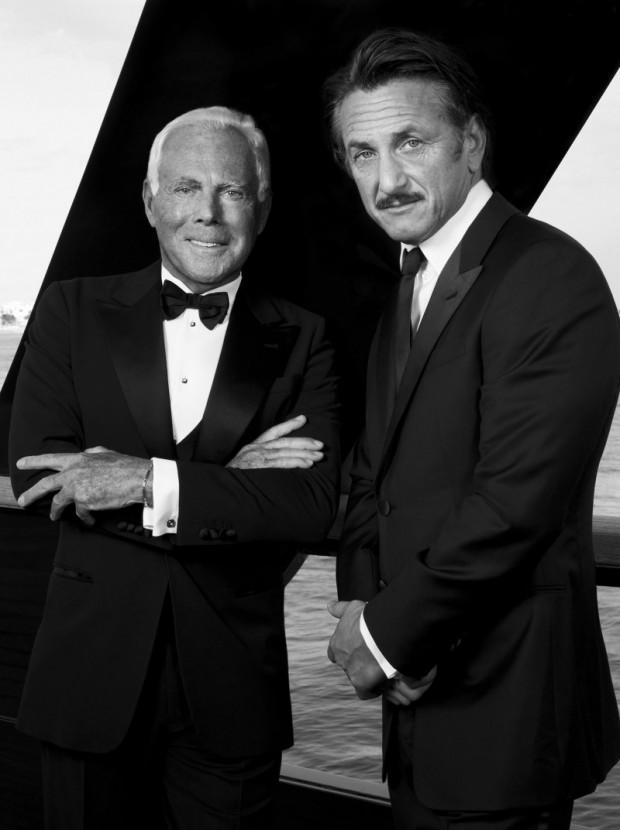 Armani and Sean Penn