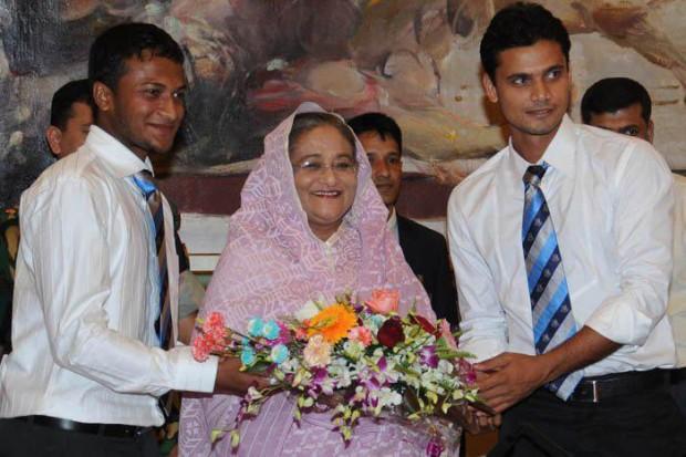 Shakib Al Hasan congratulated by Bangladesh Prime Minister Sheikh Hasina