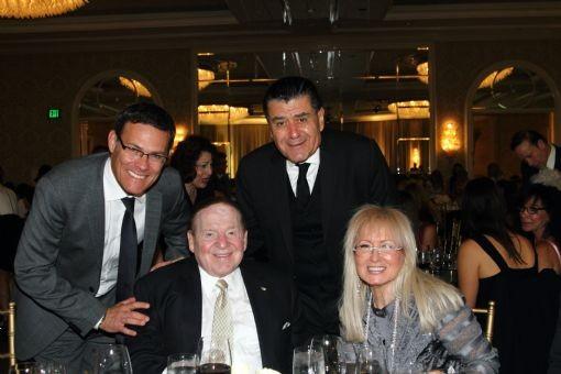 Cheryl Saban and David Siegel with Sheldon