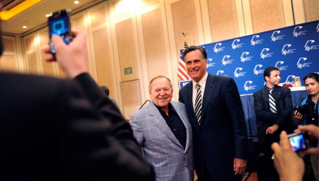 Adelson and Romney