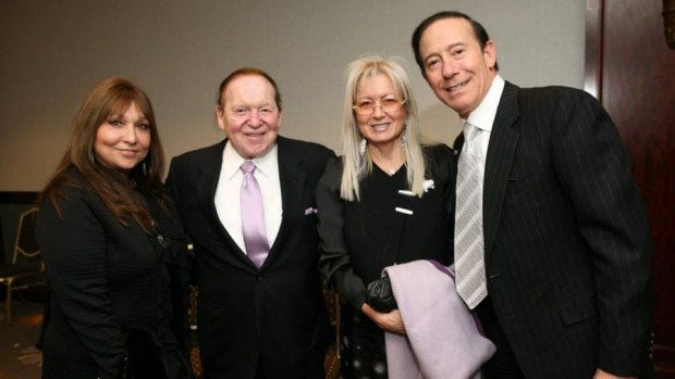 Adam Milstein and his wife with Sheldon Adelson