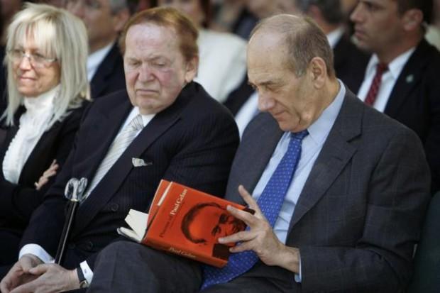 Ehud Olmert and Sheldon Adelson