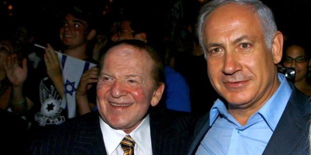 Sheldon Adelson with Benjamin Netanyahu
