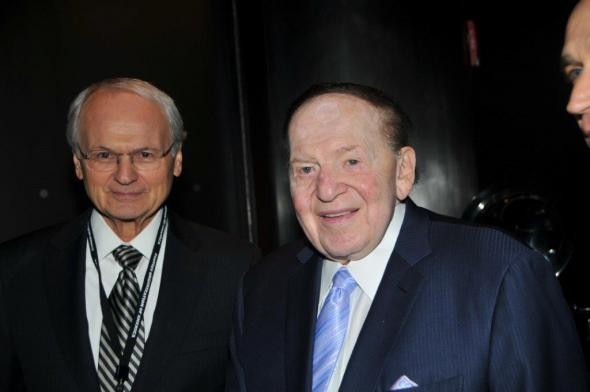 Mort Klein and Sheldon Adelson