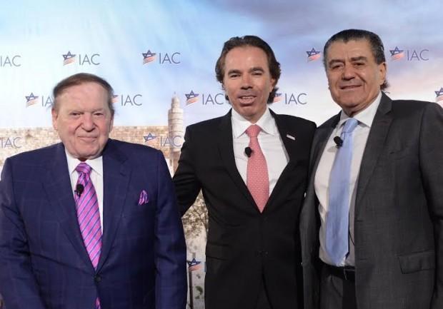 Sheldon Adelson and Haim Saban at first IAC National Conference