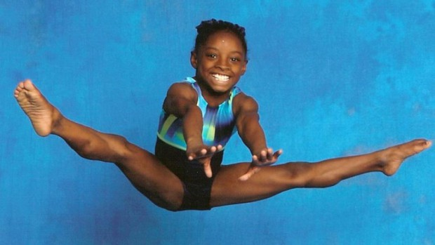 Simone Biles in her childhhod