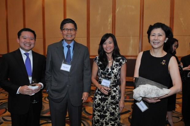Solina Chau With Thapana Sirivadhanabhakdi, Kwee Liong Tek and Cecilia Ma Zecha