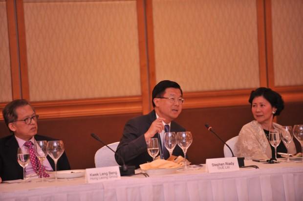 Solina Chau With Kwek Leng Beng, Stephen Riady