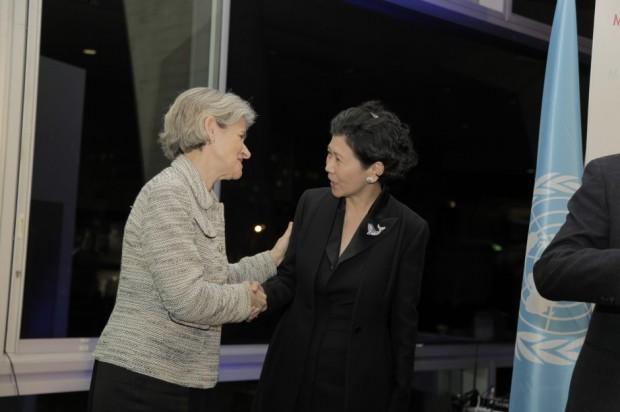 Solina Chau With UNESCO Director-General Irina Bokova