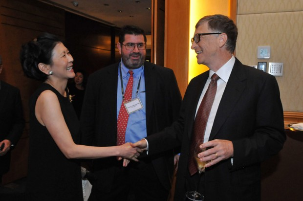 Solina Chau With Bill Gates