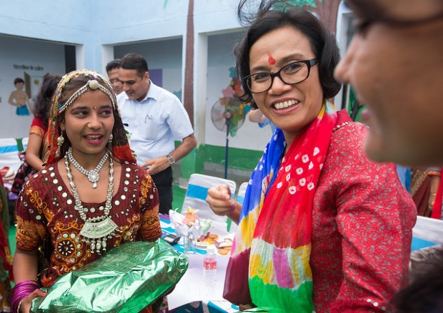 Sri Mulyani Indrawati During Her Visit in India