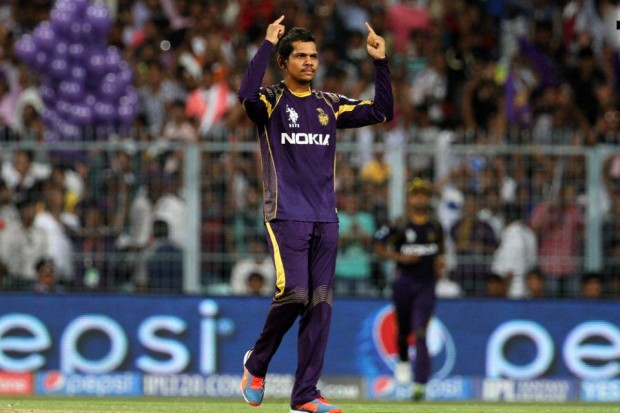 Sunil Narine Celebrates After Taking The Wicket
