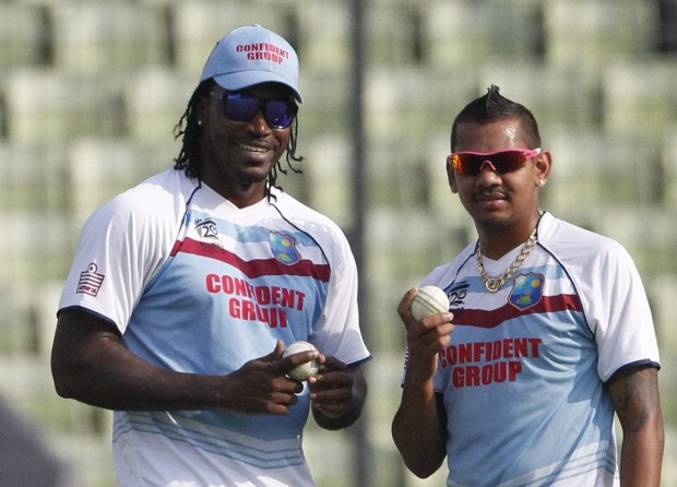 Sunil Narine and Chris Gayle