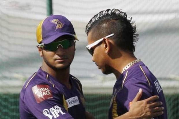 Sunil Narine With Shakib Al Hasan