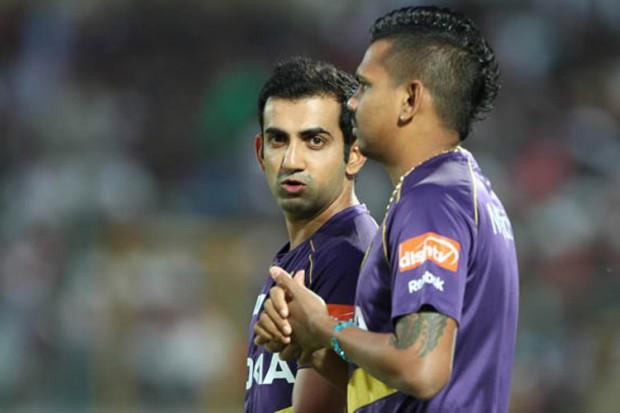 Sunil Narine With Gautam Gambhir