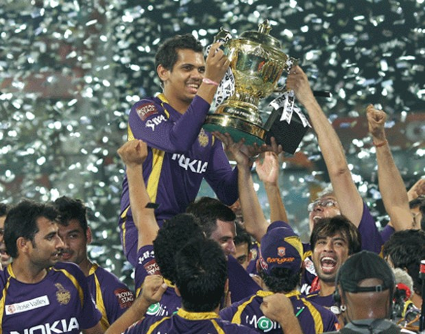 Sunil Narine With IPL Cup