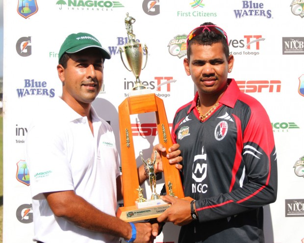 Sunil Narine receives the Man-of-the-Match Award