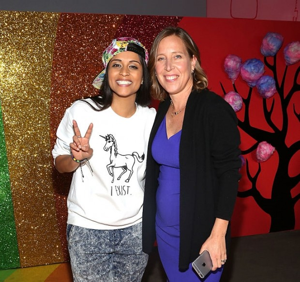 Susan Wojcicki with Lilly singh