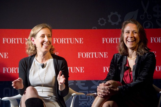Susan Wojcicki With Anne Wojcicki, founder and CEO of 23andMe