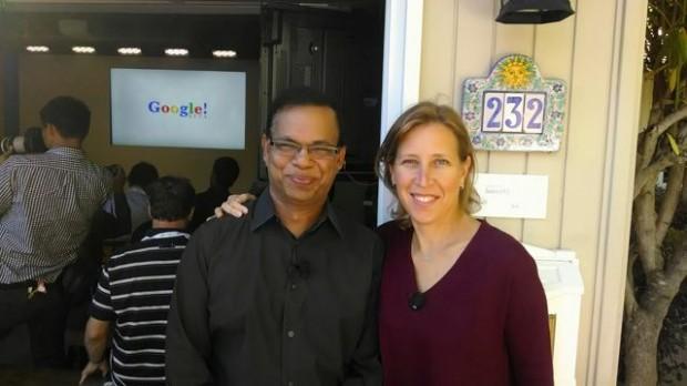 Susan Wojcicki With Amit Singhal