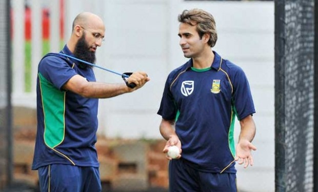 Imran Tahir and Hashim Amla