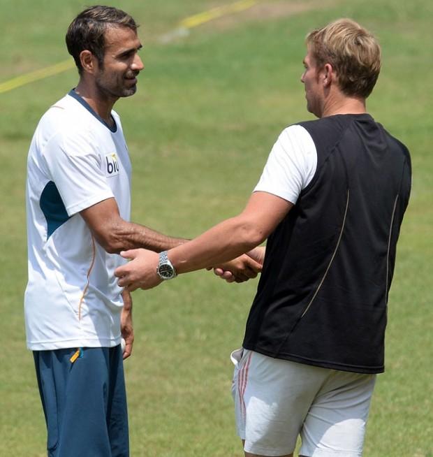 Imran Tahir With Shane Warne