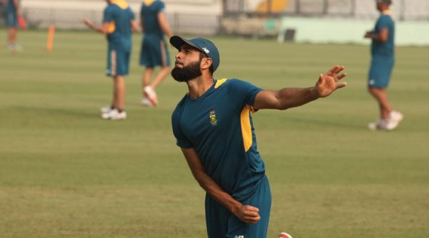 Imran Tahir during practice session at PCA Stadium in Mohali