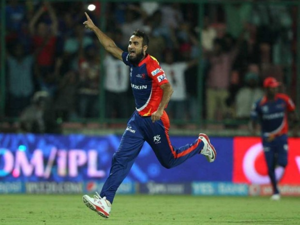 Imran Tahir Celebrates After Taking The Wicket
