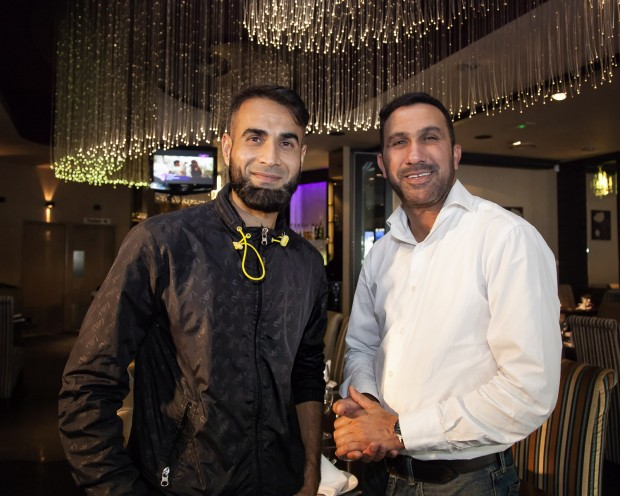Imran Tahir, South African and Nottinghamshire cricketer and Safdar Azam