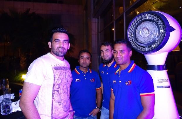 Zaheer Khan, Amit Mishra, Imran Tahir and CM Gautam