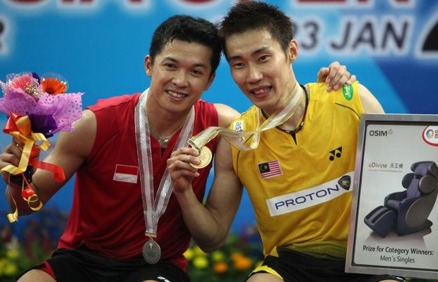 Lee Chong Wei and Taufik Hidayat