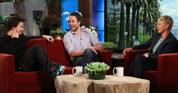 Taylor kitsch and Mark wahlberg in Ellen Degeneres Show