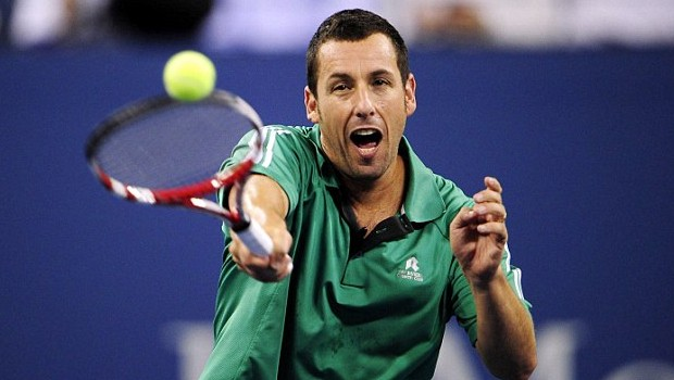 Adam Sandler Playing Tennis
