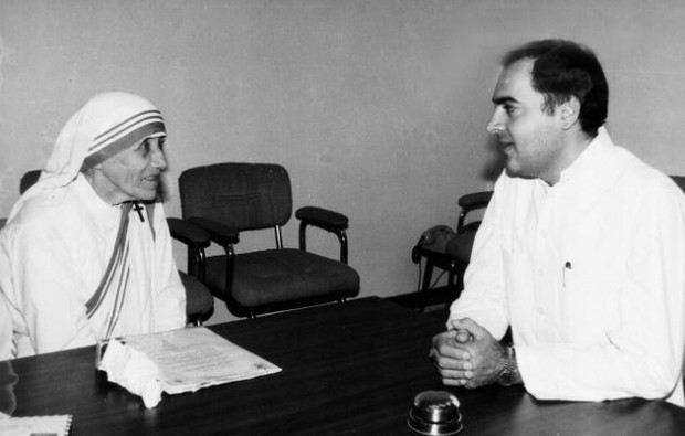 Rajiv Gandhi with Mother