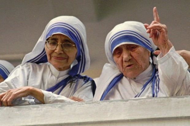 Sister Nirmala with Mother Teresa