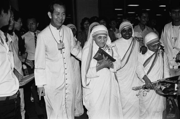 Mother Teresa during her visit to Singapore