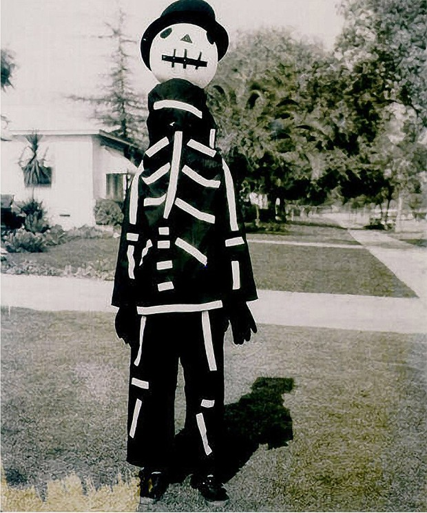 Tim Burton in Skelton Costume
