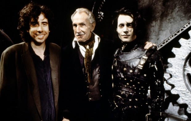 Tim Burton With Vincent Price and Johnny Depp