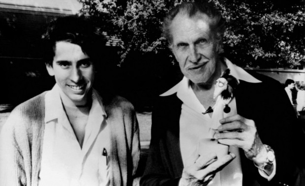 Vincent Price and Tim Burton