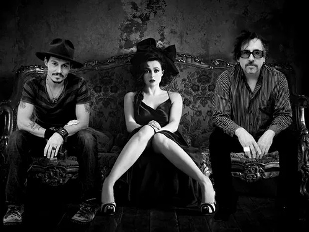 Tim Burton and Johnny Depp and Helena Bonham Carter