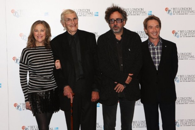 Tim Burton, Martin Landau, Catherine O'Hara and Martin Short at event of Frankenweenie
