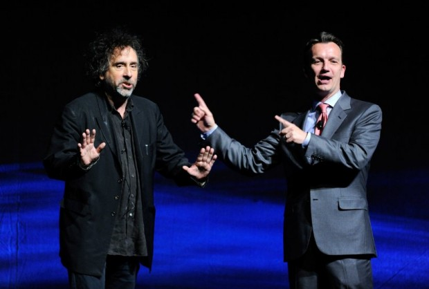 Tim Burton and Sean Bailey