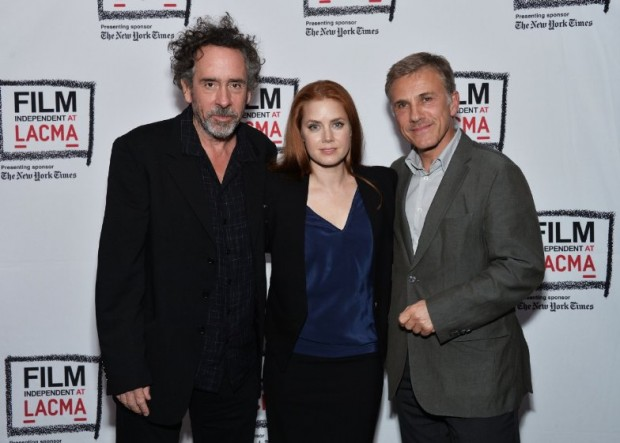 Tim Burton With Amy Adams,Christoph Waltz