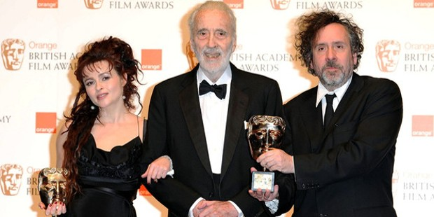 Tim Burton and Helena Bonham Carter at the BAFTA Awards
