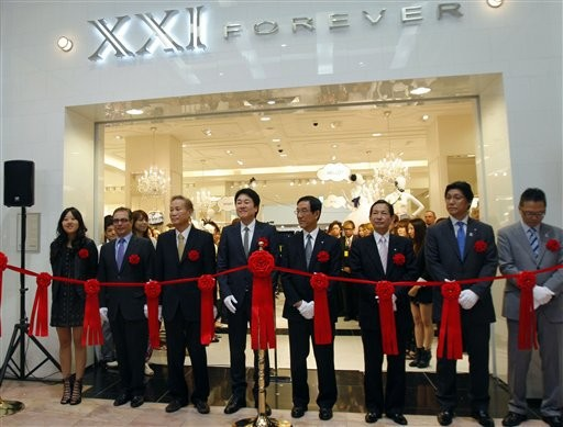 Don Chang at Opening of Forever 21 Store Opening in Tokyo
