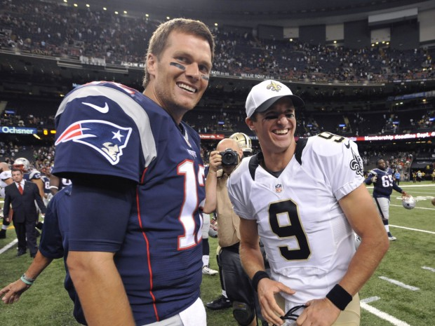 Tom Brady with Drew Brees