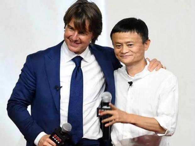 Jack Ma and Tom Cruise