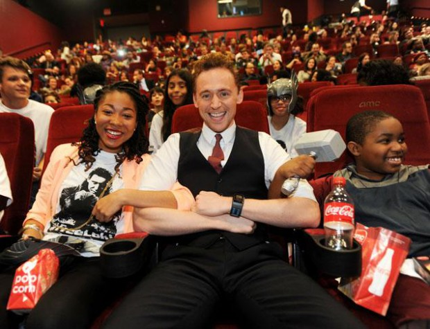 Tom watching Thor: The Dark World movie with NYC kids